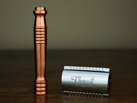 Charcoal Goods Copper Bishop Handle DE Razor