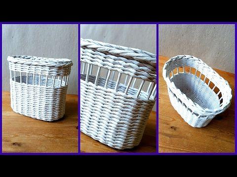 Плетение полочки для специй из бумажной лозы! 2 часть! Запись трансляции! 02.10 - YouTube