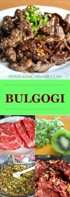 The classic Korean Bulgogi.   Best if cooked over a open fire or grill; nothing shows off  Korean BBQ better!  See tips and recipe @    Kimchimari.com