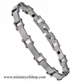 Braccialetto in acciaio inossidabile con magnete e germanio (STB-0372)