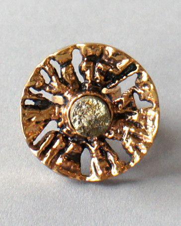 "Pentti Sarpaneva Oversized Bronze and Pyrite ""Tree"" Ring, 1970's"