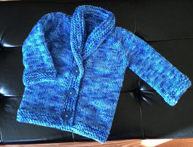 Toddler grandpa sweater - Jan. 2016