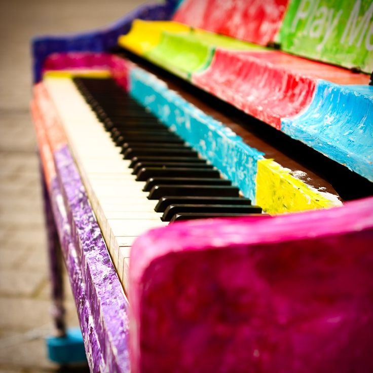 Rainbow Piano: Music Colors, Colors Stuff, Piano Music, Colors Art, Colors Piano, Colors Rainbows, Piano Studio, Art Colors Photography Design, Colors Keys