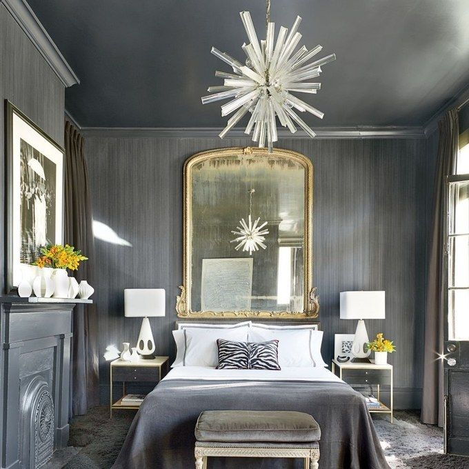 Contemporary Bedroom by Lee Ledbetter & Associates.    I really like the design of this room.  The walls are interesting and the color is restful.  D.Martin
