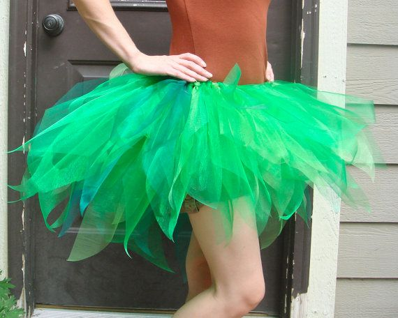 Jungle Green Adult Tutu Skirt Tired In Organza For By BoulderTuTus
