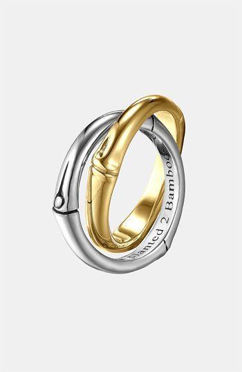 John Hardy 'Bamboo' Interlocking Ring available at #Nordstrom