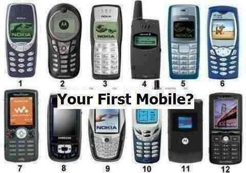 ¿Alguno de estos fue su primer teléfono? lindos recuerdos!