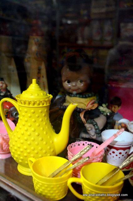 Jogo de chá amarelo