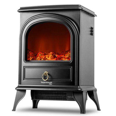 Harper Bright Designs Electric Fireplace Stove Heater Portable Fireplace Walmart Com Portable Fireplace Electric Fireplace Portable Electric Fireplace