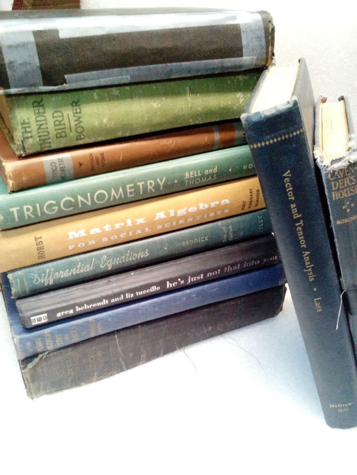 Vintage 19th Century Educational Books Lot set of 11 Trigonometry, Algebra Math  #Textbook