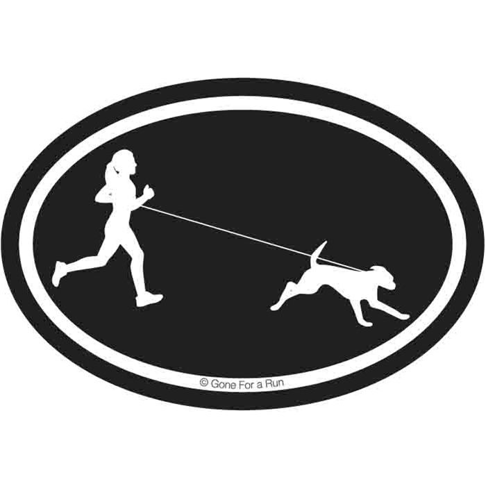 So me!!  Runner Girl with Dog Decal | Running Decals | Running Decals