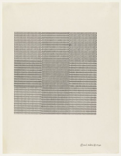 SOFT PYRAMID(S) △ Kelsey Halliday Johnson — Carl Andre Untitled, 1960 typewriting on paper 11...