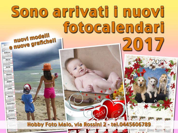 Nuovi modelli di calendari 2017 – Vicenza – Malo – HOBBY FOTO