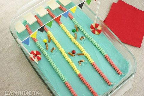 Olympic Swimming Pool Cake http://www.yummly.com/blog/2012/07/gold-medal-desserts-for-the-2012-summer-olympics/