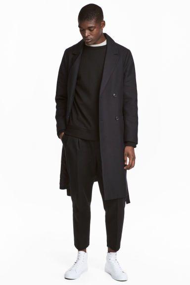 Dvouřadový kabát - Černá - MUŽI | H&M CZ 1