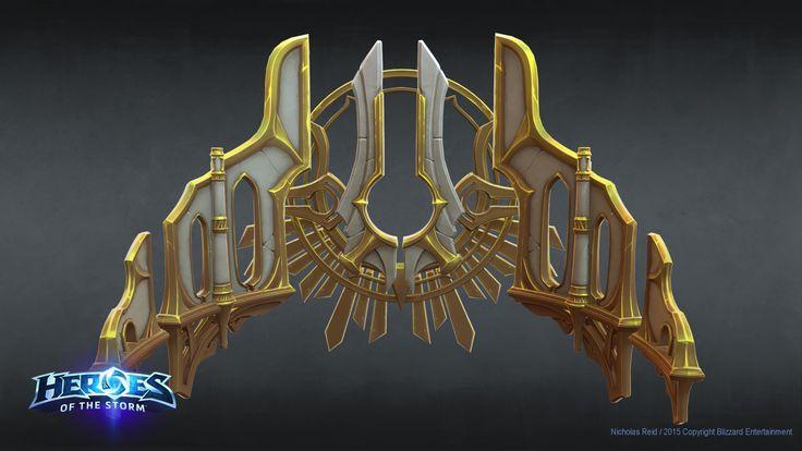 Heroes Of The Storm -  Heaven Floating walls, Nicholas Reid on ArtStation at https://www.artstation.com/artwork/WlQg2