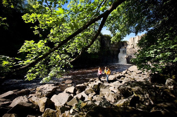 Find amazing hidden treasures when walking in Durham such as High Force waterfall in the Durham Dales