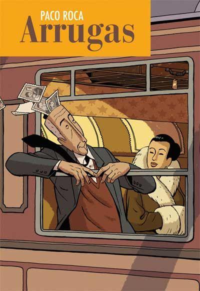 Arrugas Es una novela gráfica del dibujante Paco Roco en el que se trata de forma realista y emotiva el tema de la vejez y las enfermedades asociadas a ella. a pesar de su dramatismo arranca sonrisas porque tiene un sentido del humor muy fino y nada ofensivo.