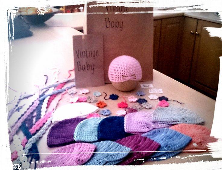 handmade assortment of crochet turbans #flowers #headbands.