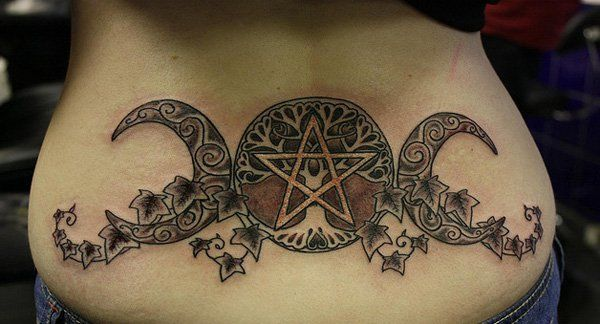Moon Low Back Tattoo - 60  Low Back Tattoos for women  <3 <3