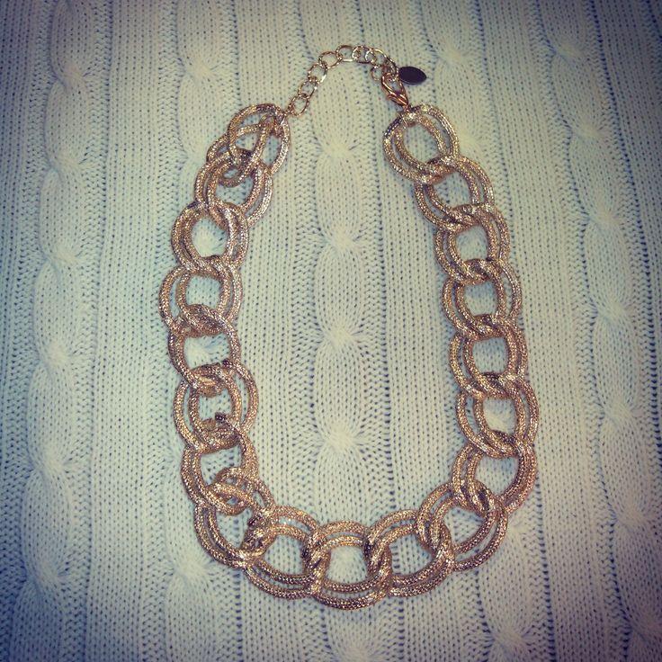 collar cadena dorado...