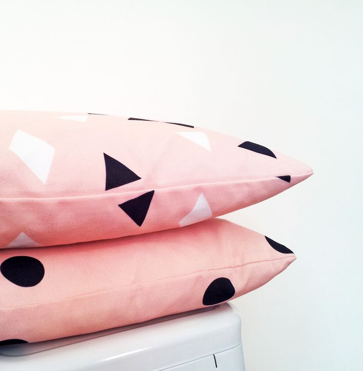 Blush cushions from the Simple Geometry collection by charlie jane
