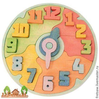Часики деревянные. Развивающая игрушка. - часики,биофа,деревянные,сортер