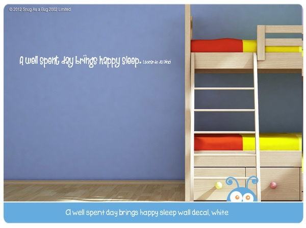 a well spent day, wall decal quote
