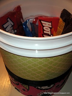 fun seat/stash bucket DIY for camp.
