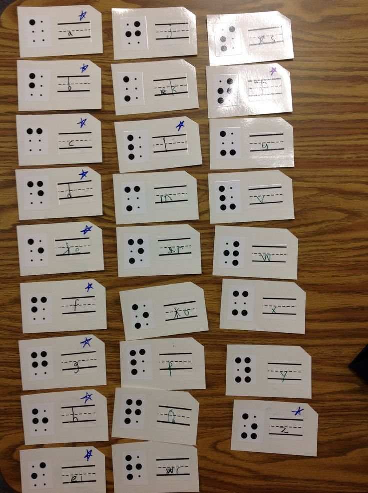 Create Some Print Braille Flash Cards And Laminate Them