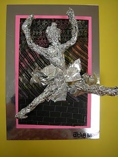 Foil people sculptures!
