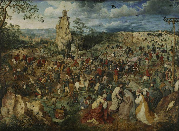 Питер Брейгель Старший, Путь на Голгофу (Несение креста). 1564, Музей истории искусств, Вена