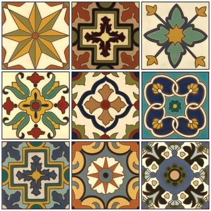 hand painted ceramic tiles Malibu quick ship collection from Catalina Classics