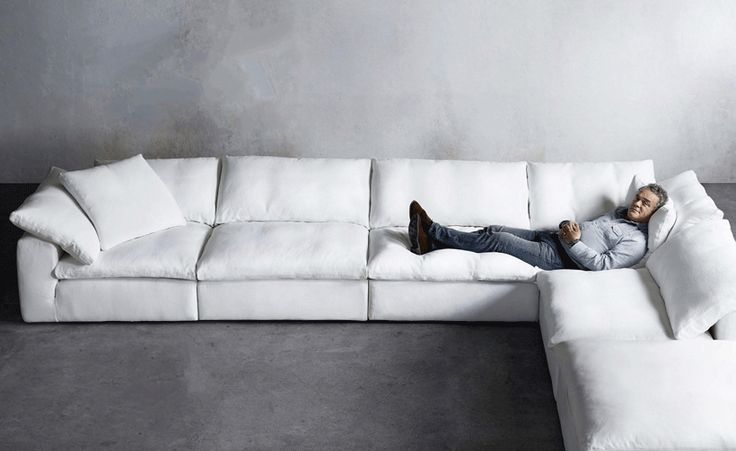 Good The Dreamy U0027Cloudu0027 Sofa, Inspired By British Designer, Timothy Oulton (seen  Here), In White Belgian Linen Will Lull You Away To A Weekend Nap In Mau2026