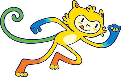 Kleurplaat Olympische spelen 2016: mascotte Tom