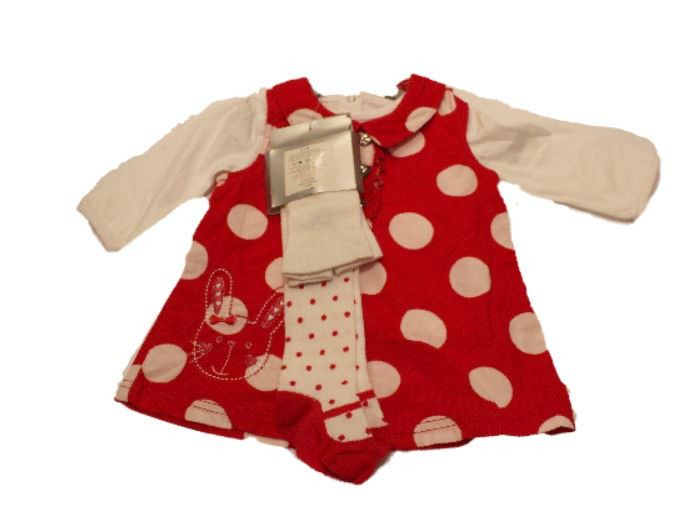 Red and White 3pcs Polka Dot Baby Set With Tights  #clothes #canada #fashionista #kidsclothes #instalikes #instagram #canadaonline #onlinestore #fashionstyle #shoppingonline