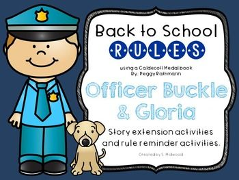 Use this Officer Buckle and Gloria extension activities to reinforce your school rules at the beginning of the year!  Seven pages of activites!!1. Character descriptor page of Officer Buckle2. Character descriptor page of Gloria3. What animal would be your assistant if you were Officer Buckle?
