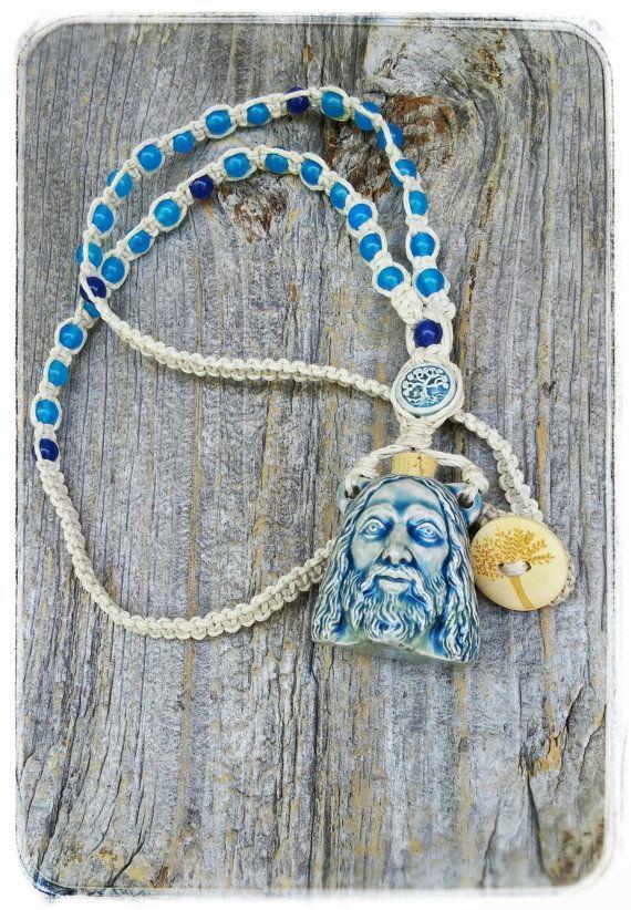 Jesus Prayer Bead Necklace Jesus Clay by MysticKeyMeditations