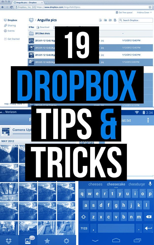19 Ways To Unlock The True Power Of Dropbox—The blue box is hiding some mad tricks. Think Dropbox is just good for backups? Think again; Details>