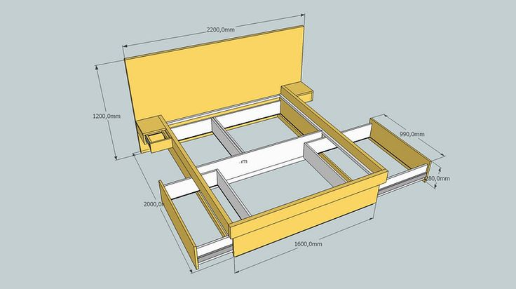 Compact Living - Queen Size Bed with Storage Drawers