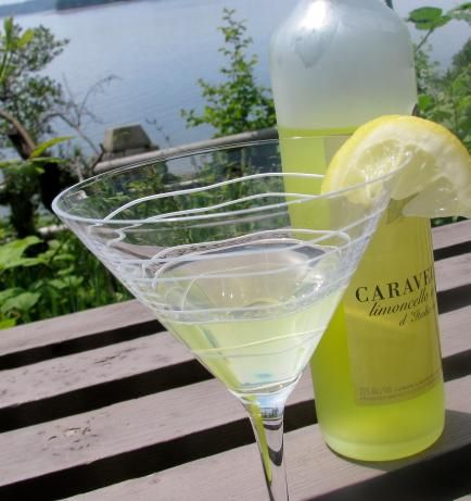 Limoncello Martini. 1 part limoncello, 1 part vodka, lemon twist.  shake with ice and pour into a martini glass.  Garnish with a lemon twist.