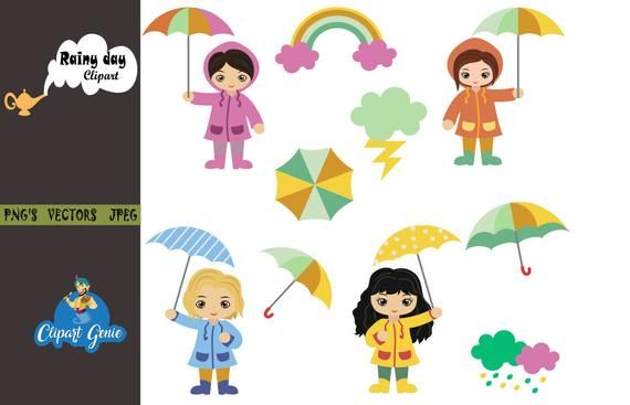 April Showers Clipart Weather Clipart Sun Clipart Rain Clipart Rainy Day Clipart Sun Raincoat C Elephant Clip Art Baby Shower Clipart Stick Figure Family