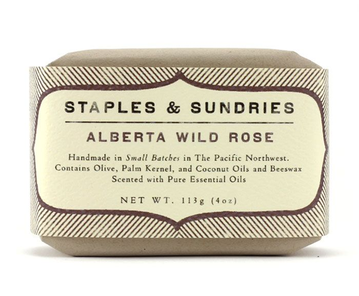Love the weathered look of the soap label.