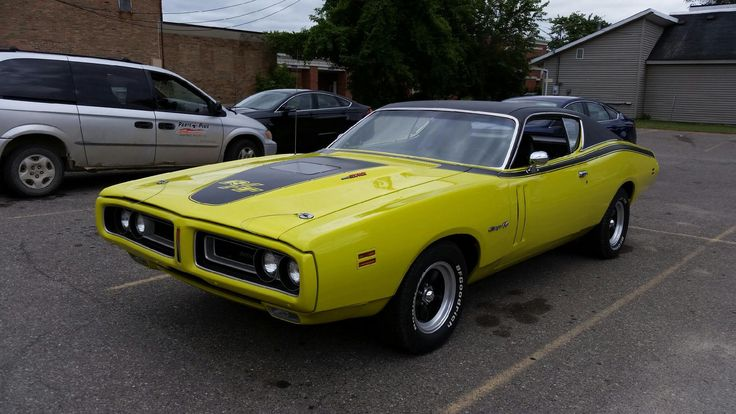 Amazing #restoration of this 1971 #Dodge #Charger R/T! Painted a rare #Citron #Yella - less than 1% were painted this color! #MuscleCar #MOPAR