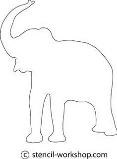 elephant stencil - Bing ImagesElephant Head Stencil