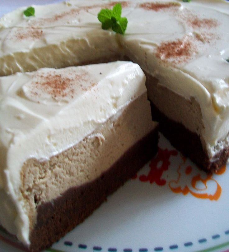 Pre milovnikov kavovej chuti je ako stvoreny tento skvely mucnik. Podlozku na tejto torte tvori brownies . Druha vrstva je ka...