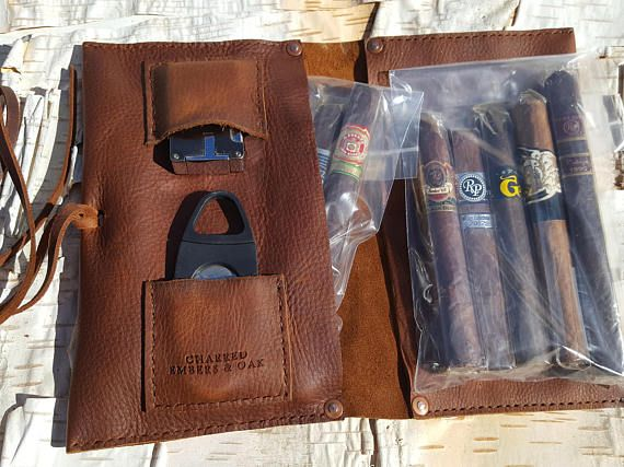 Large Leather Cigar Case