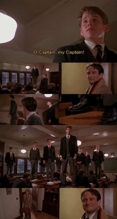 Dead Poet's Society. Weeping. Seriously one of the best and most powerful…