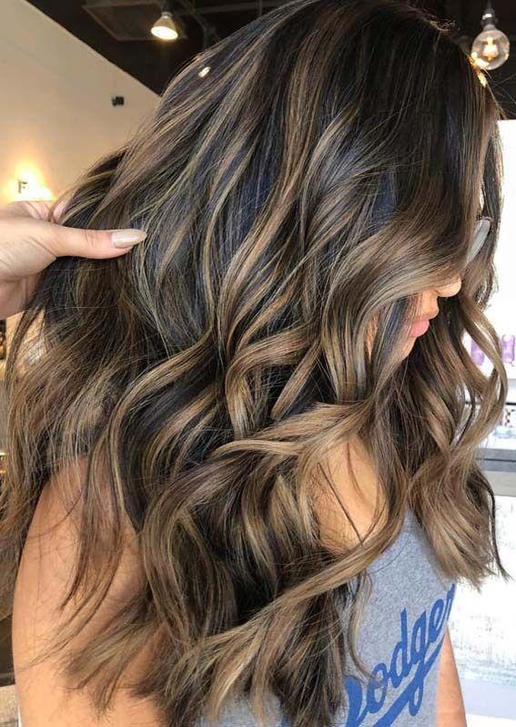 Gorgeous Brunette Balayage Hair Highlights Ideas For 2018 Brunette Hair Color Balayage Hair Balayage Brunette