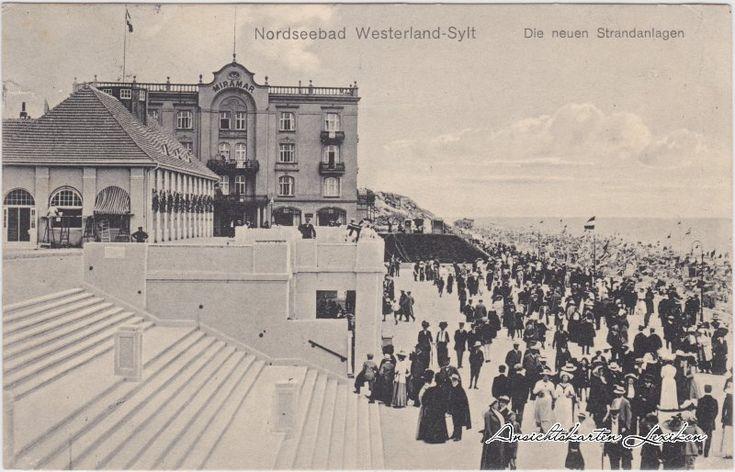 Ansichtskarten-Lexikon :: Hotel Miramar - Neue Strandanlagen :: Westerland-Gemeinde Sylt
